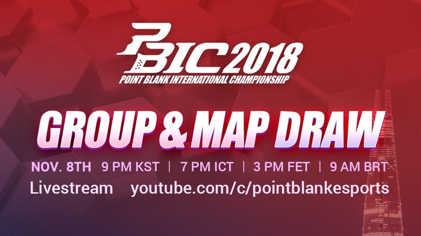 PBIC 2018 Group Draw Live Streaming!
