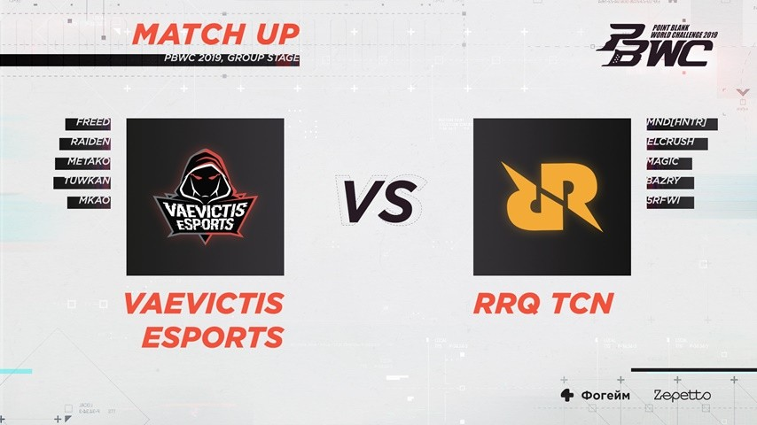 Match Result: Vaevictis eSports VS RRQ TCN (PBWC 2019 Group Stage)